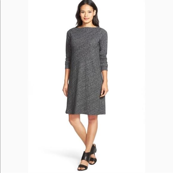Eileen Fisher Dresses & Skirts - Eileen Fisher   Bateau Neck Knit Shift Dress Sz xl